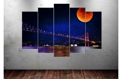 Masal İstanbul Boğaz Köprüsü 5 Parça Tablo dkm-k75-1