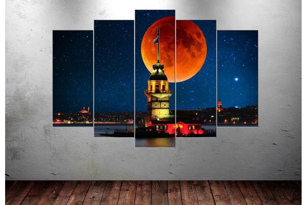 Masal İstanbul Kız Kulesi 5 Parça Tablo dkm-k75-2