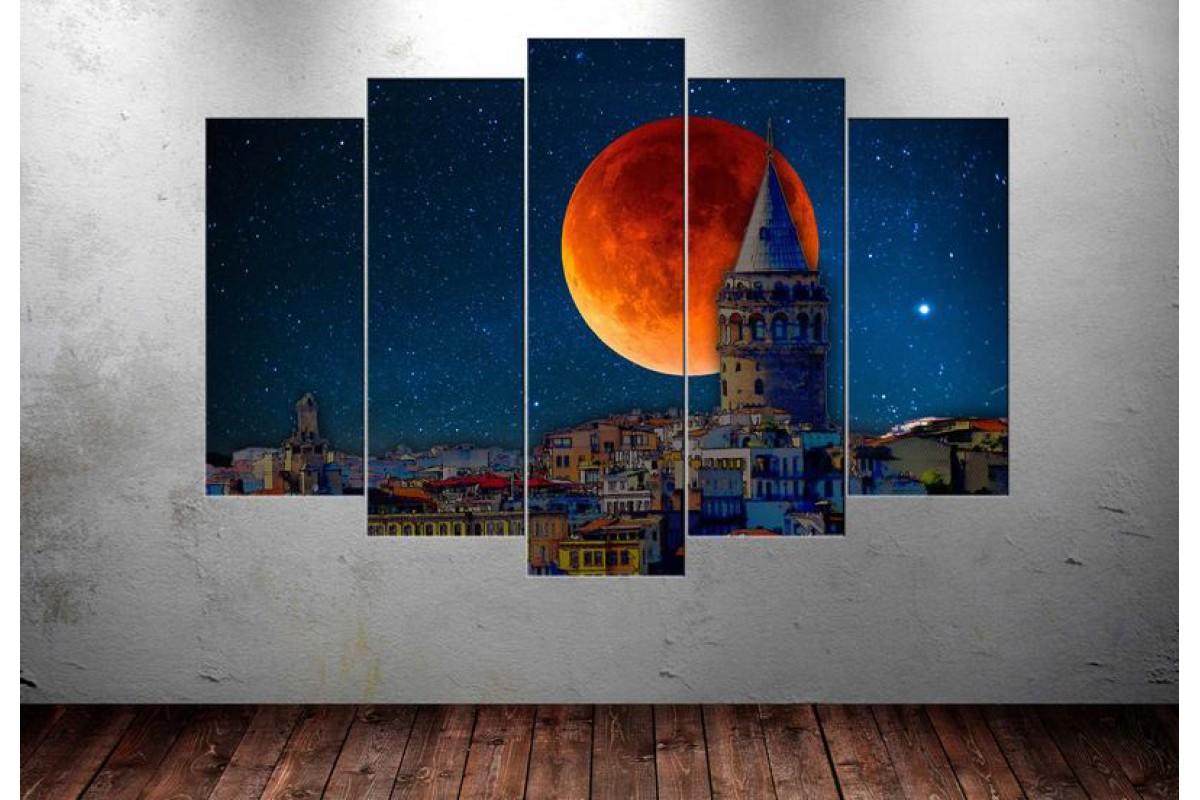 Masal İstanbul Galata Kulesi 5 Parça Tablo dkmr131