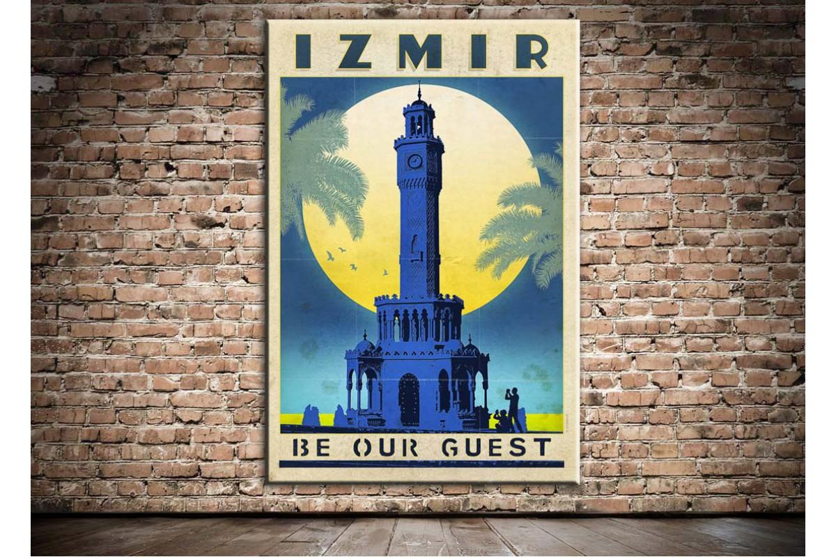 İzmir Saat Kulesi Kanvas Tablo dkm-k20c