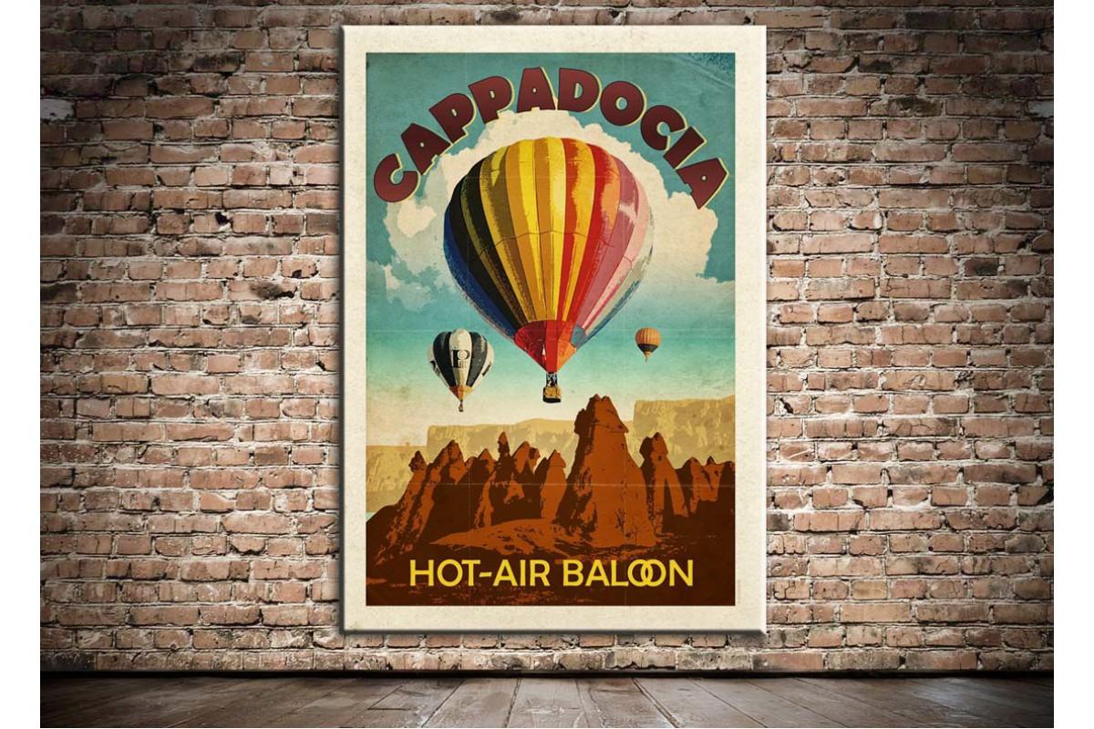 Kapadokya Hava Balonları Kanvas Tablo dkm-k20d
