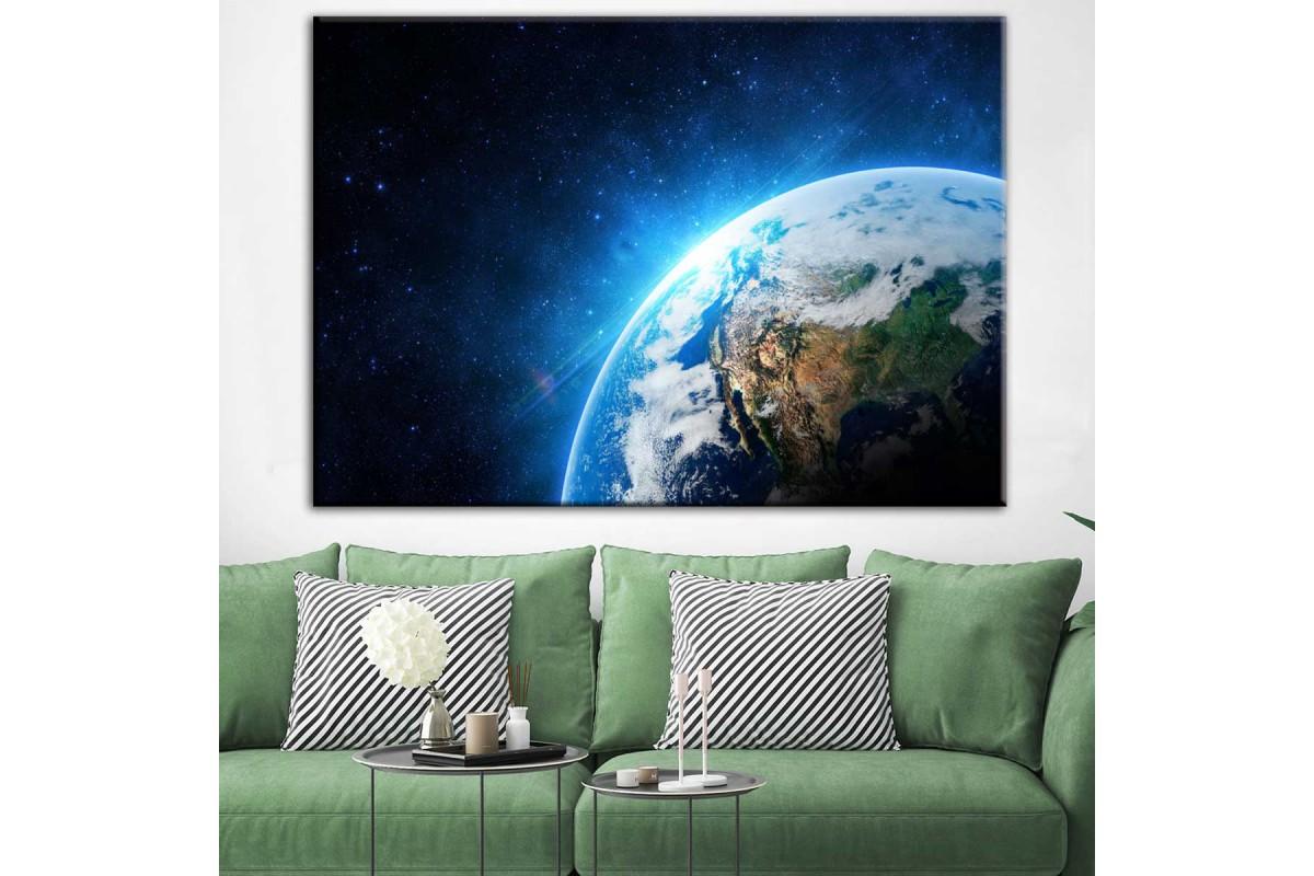 Dünya Gezegen Dekoratif Kanvas Tablo dkm-k33-1