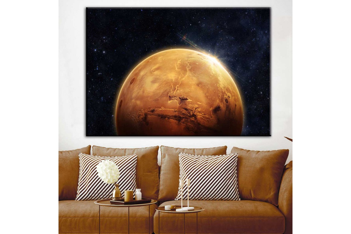 Mars Kızıl Gezegen Dekoratif Kanvas Tablo dkm-k33-2
