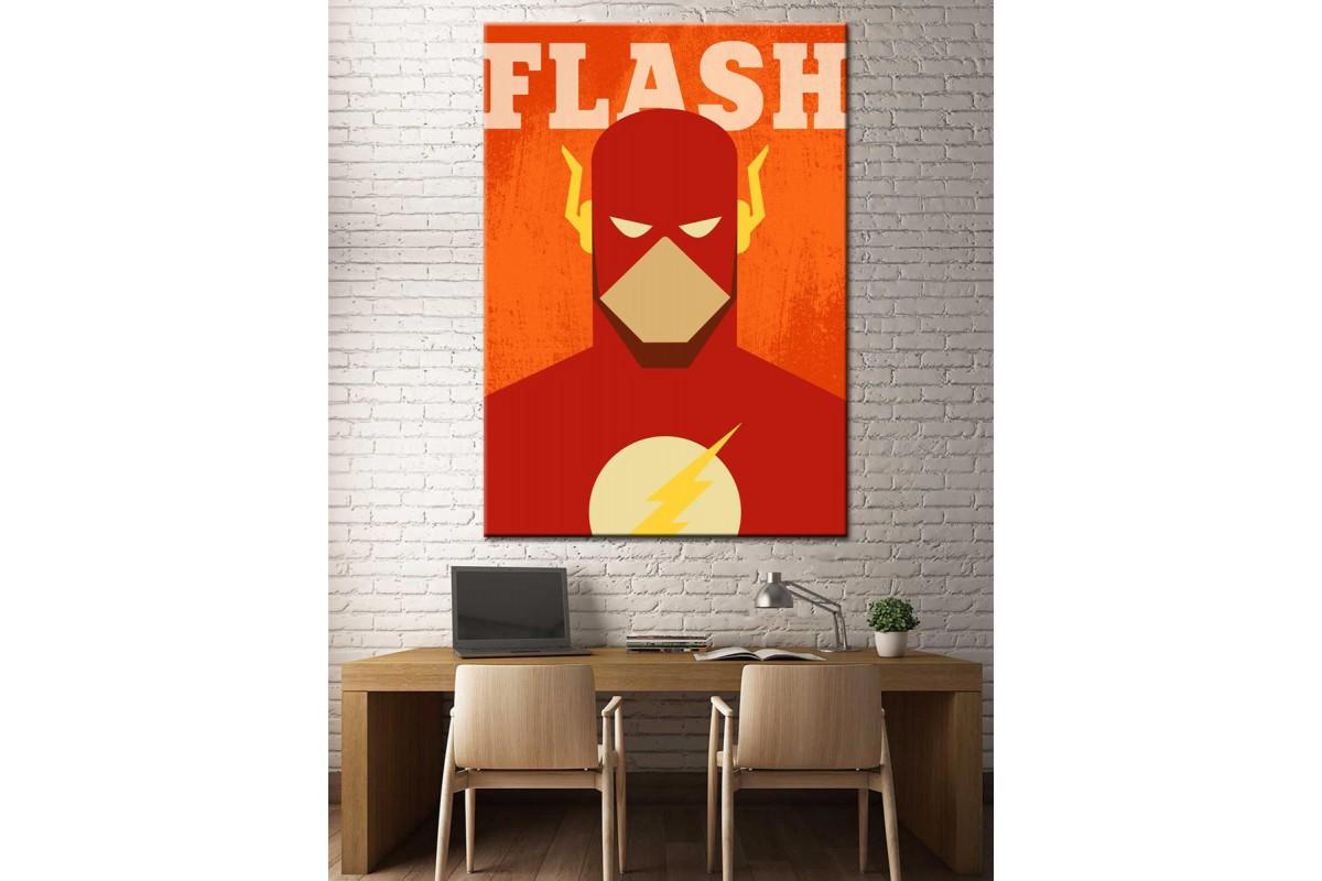 Süper Kahramanlar Serisi Flash Kanvas Tablo dkm-k39-1