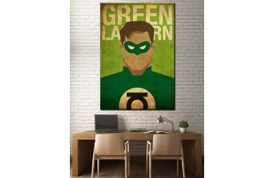 Süper Kahramanlar Serisi Green Lantern Kanvas Tablo dkm-k39-10