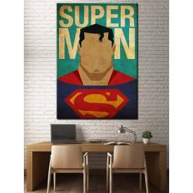 Süper Kahramanlar Serisi Superman Kanvas Tablo dkm-k39-11