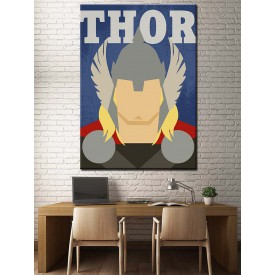 Süper Kahramanlar Serisi Thor Kanvas Tablo dkm-k39-12