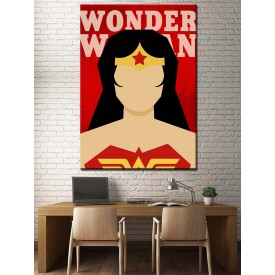 Süper Kahramanlar Serisi Wonder Woman Kanvas Tablo dkm-k39-13