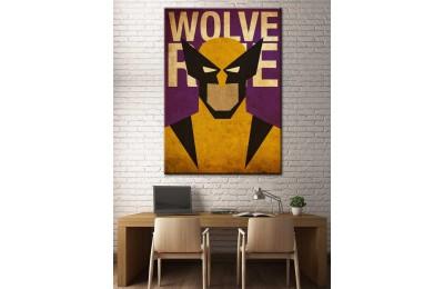 Süper Kahramanlar Serisi Wolverine Kanvas Tablo dkm-k39-5