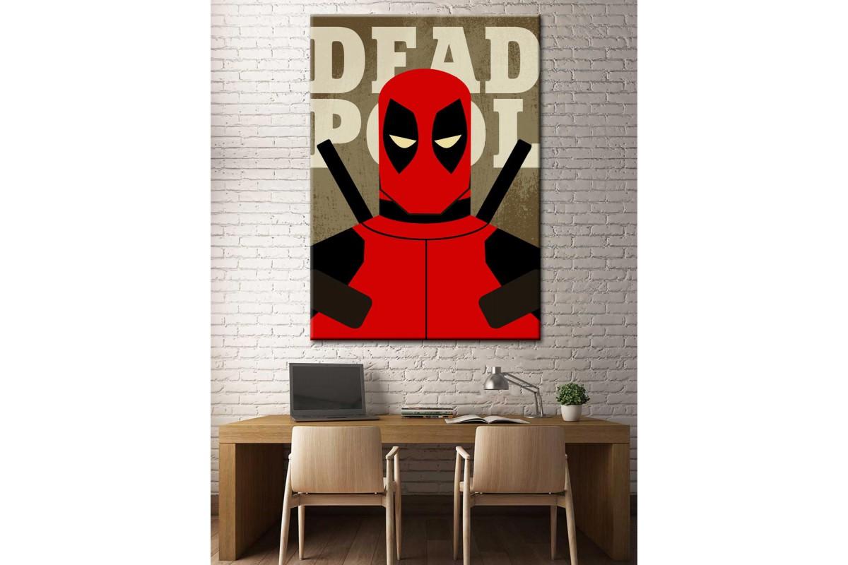 Süper Kahramanlar Serisi Deadpool Kanvas Tablo dkm-k39-6