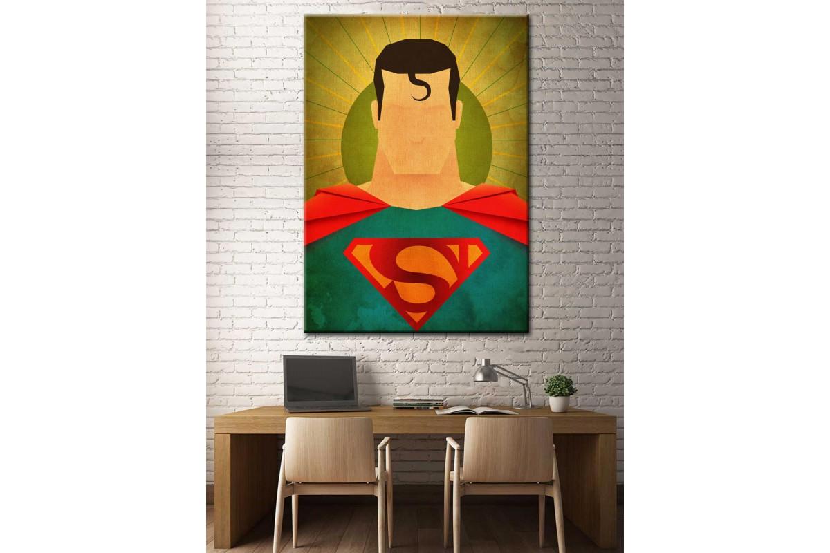 Süper Kahramanlar Serisi Superman Kanvas Tablo dkm-k39-9