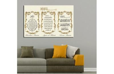 Bereket Duası Nazar Duası Ayetel Kürsi Besmele Tablo Altın dkm-k51-1