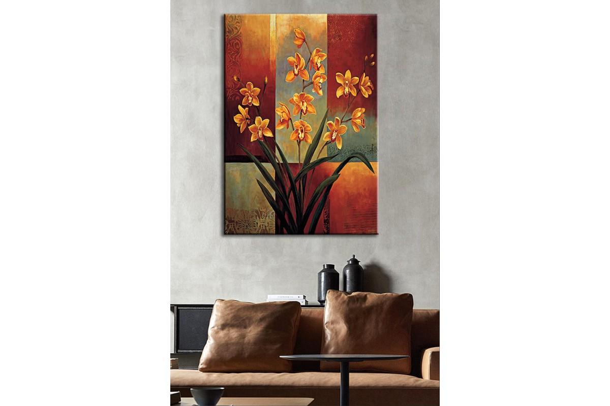 Yağlı Boya Görünüm Çiçekler Kanvas Tablo dkm-k54-1