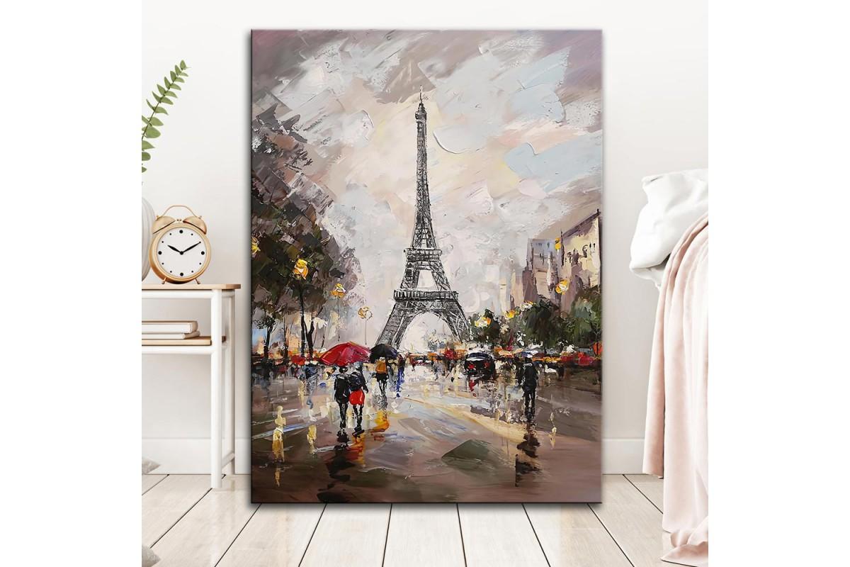 dkm-k59-11 Paris Eyfel Yağlı Boya Görünüm Tablo