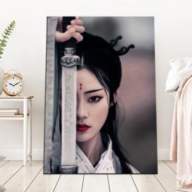 Dişi Samuray Kanvas Tablo dkm-k60-4