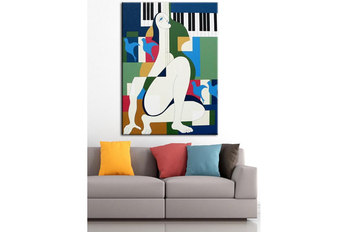 Sanatsal  Yağlı Boya Görünüm Kanvas Tablo dkm-k61-108