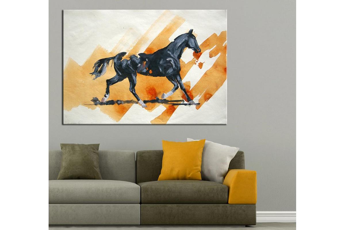 At Yağlı Boya Görünüm Kanvas Tablo dkm-k61-11