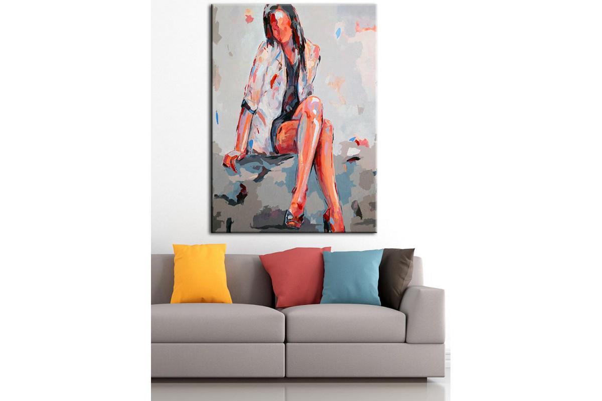 Kadın  Yağlı Boya Görünüm Kanvas Tablo dkm-k61-110