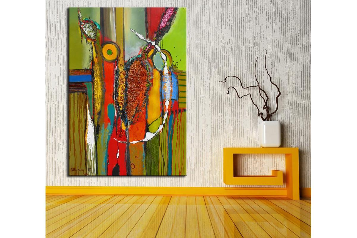 Soyut Sanatsal  Yağlı Boya Görünüm Kanvas Tablo dkm-k61-135