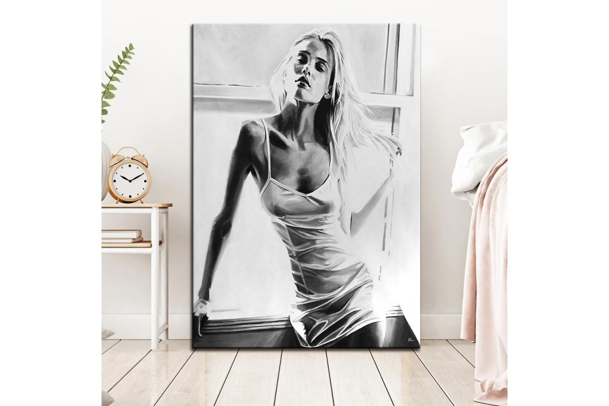 Nü Kadın  Yağlı Boya Görünüm Kanvas Tablo dkm-k61-149