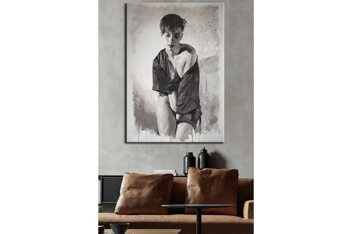 Kadın  Yağlı Boya Görünüm Kanvas Tablo dkm-k61-151