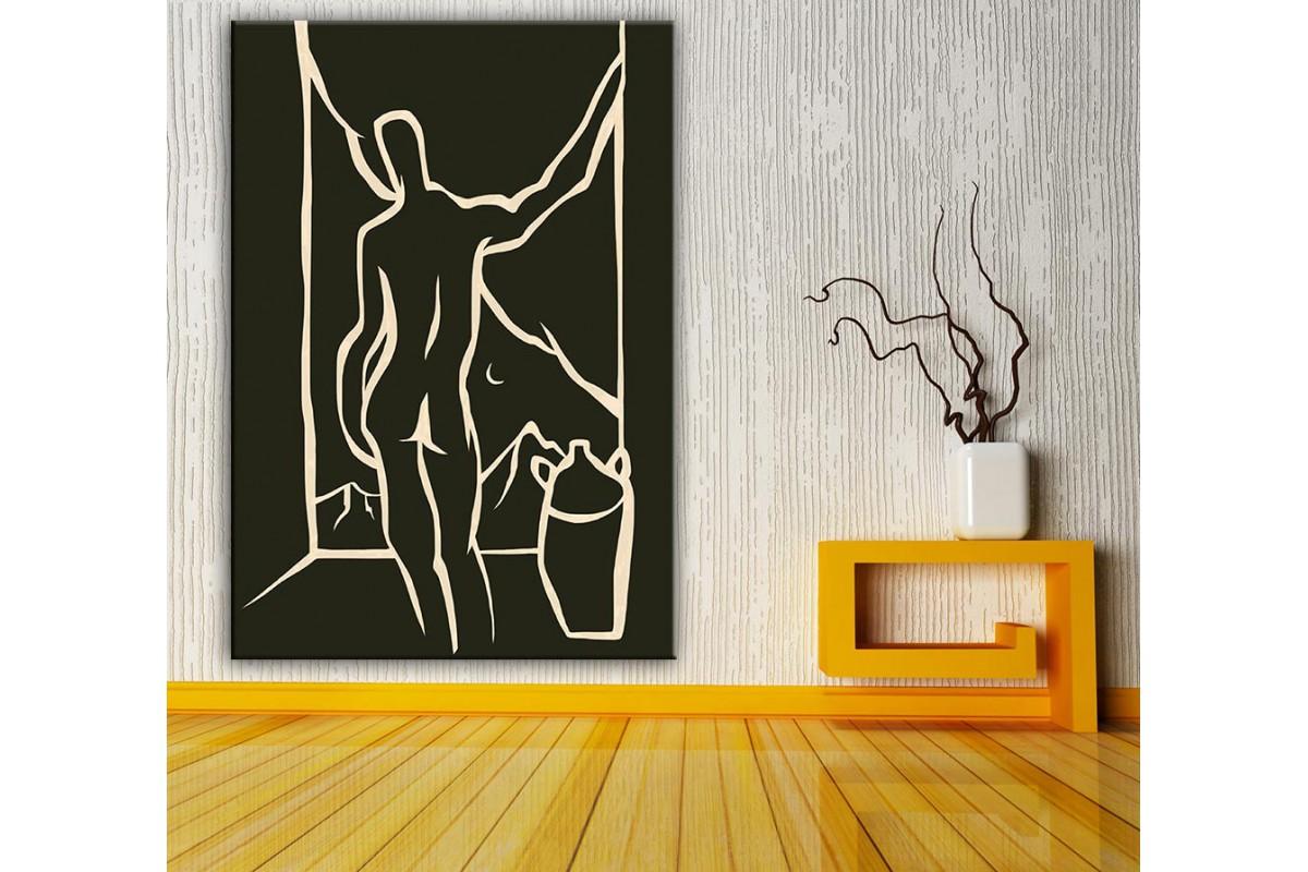 Sanatsal  Yağlı Boya Görünüm Kanvas Tablo dkm-k61-162
