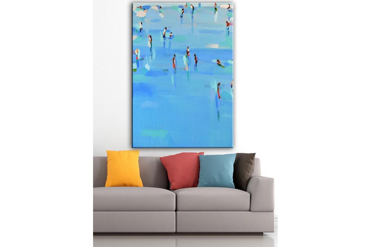 Buz Pateni  Yağlı Boya Görünüm Kanvas Tablo dkm-k61-165