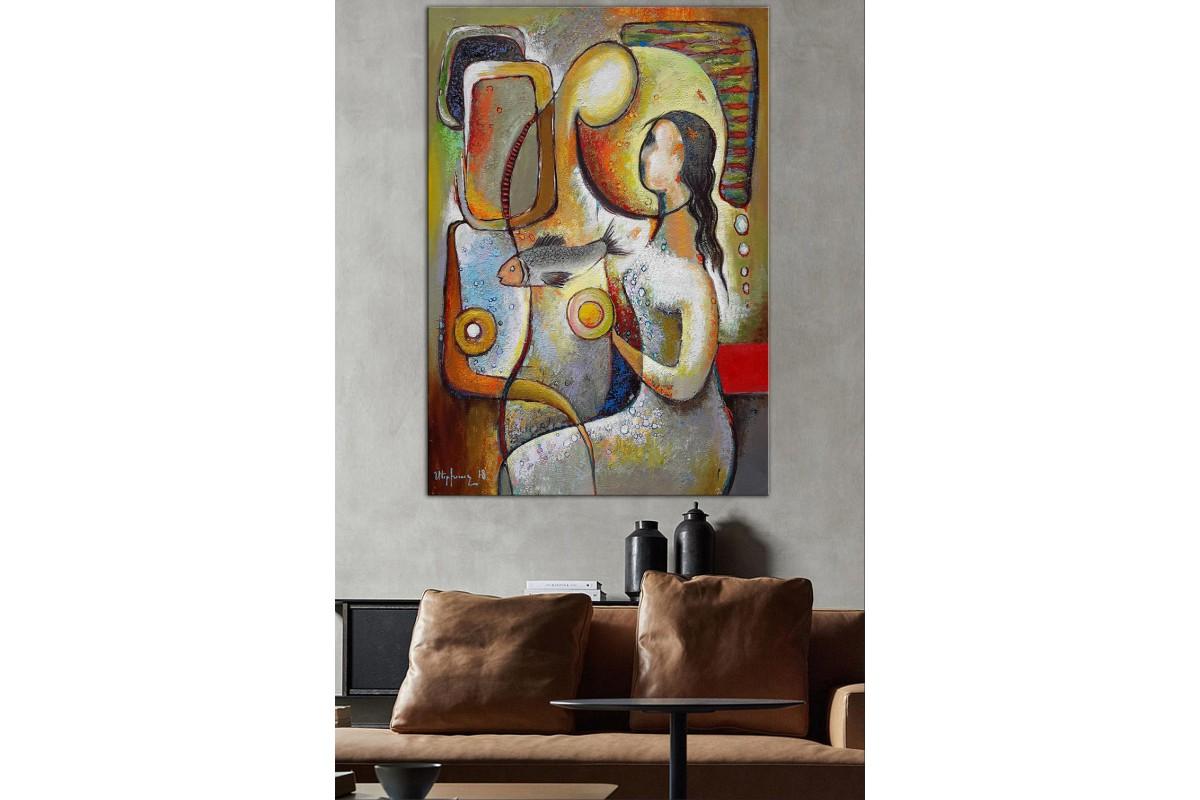 Sanatsal  Yağlı Boya Görünüm Kanvas Tablo dkm-k61-179
