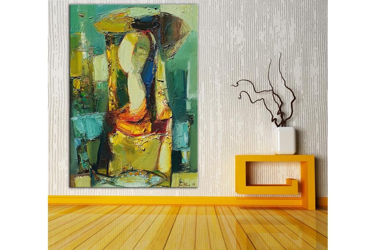 Kadın  Yağlı Boya Görünüm Kanvas Tablo dkm-k61-180