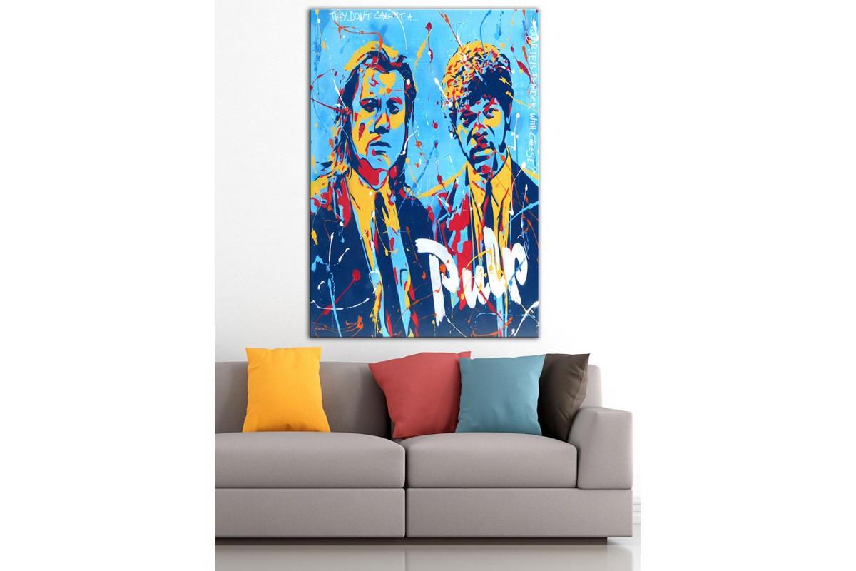 Pulp Fiction  Yağlı Boya Görünüm Kanvas Tablo dkm-k61-188