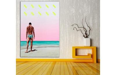 Plaj  Yağlı Boya Görünüm Kanvas Tablo dkm-k61-189