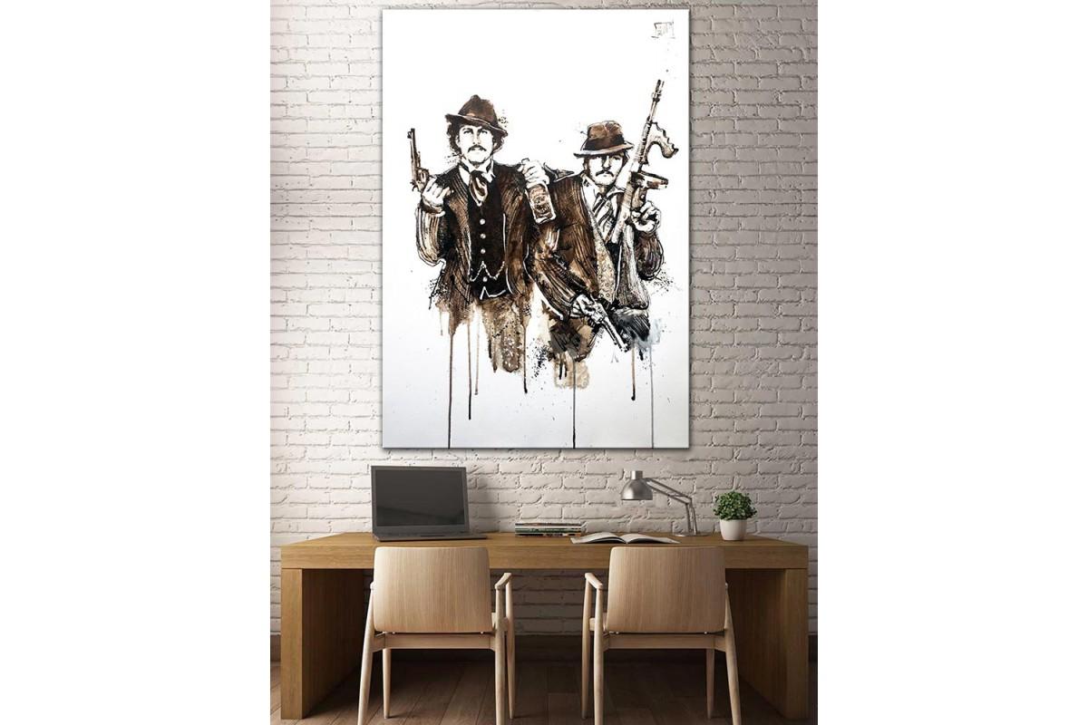 Gangasterler  Yağlı Boya Görünüm Kanvas Tablo dkm-k61-190