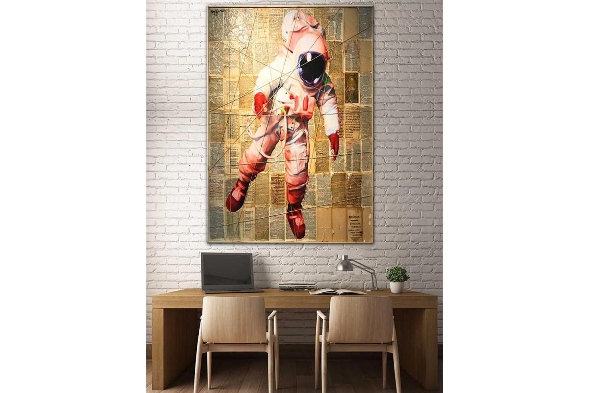 Astronot  Yağlı Boya Görünüm Kanvas Tablo dkm-k61-195