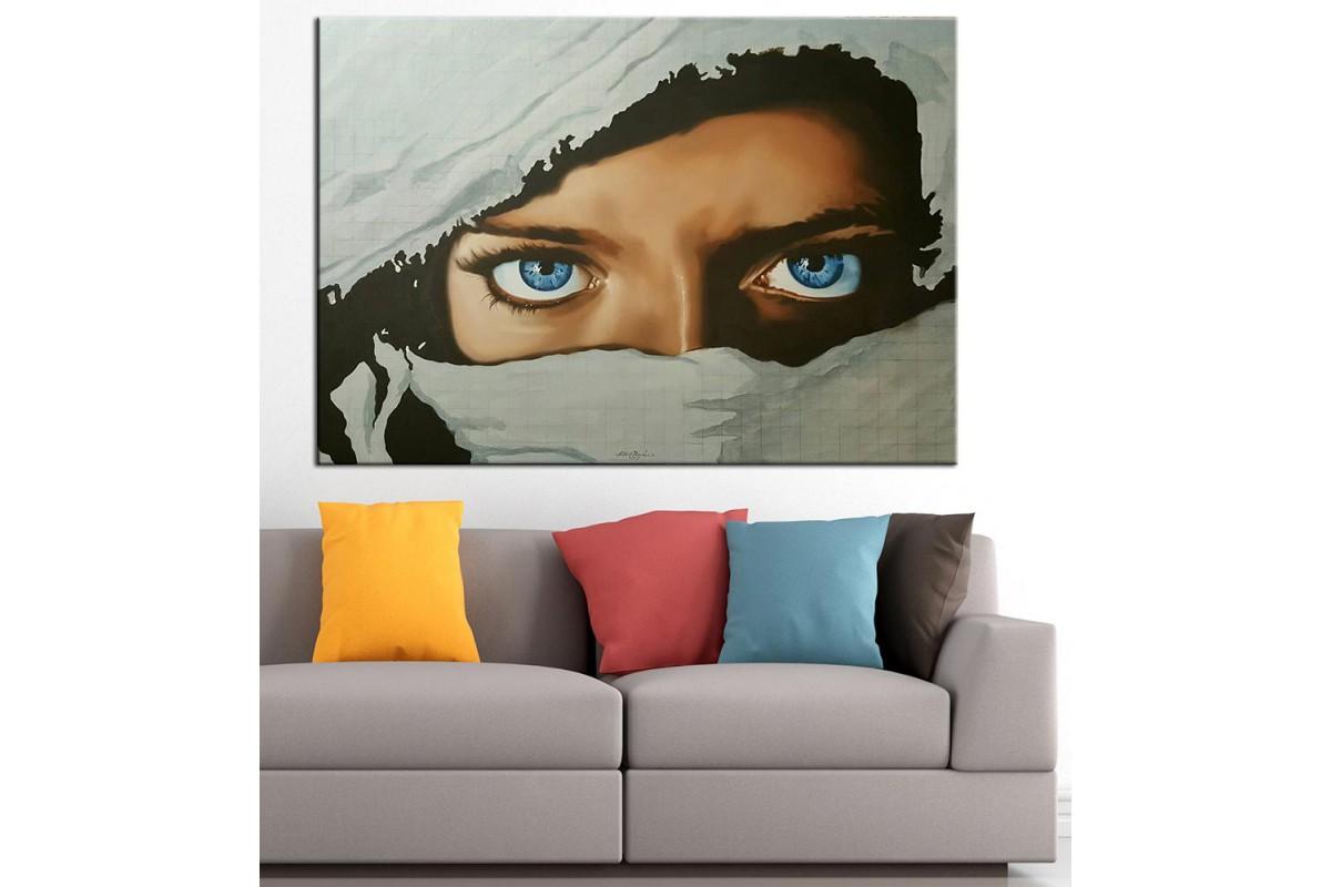 Gözler Yağlı Boya Görünüm Kanvas Tablo dkm-k61-20