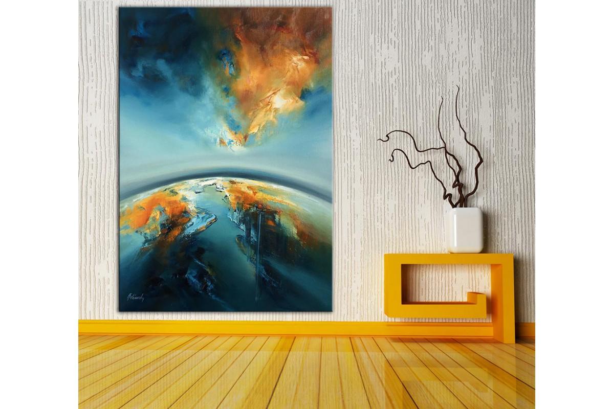 Dünya  Yağlı Boya Görünüm Kanvas Tablo dkm-k61-201