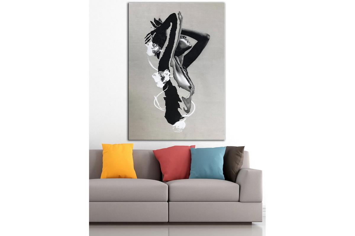 Kadın Nü  Yağlı Boya Görünüm Kanvas Tablo dkm-k61-203