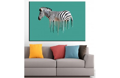 Zebra Yağlı Boya Görünüm Kanvas Tablo dkm-k61-24