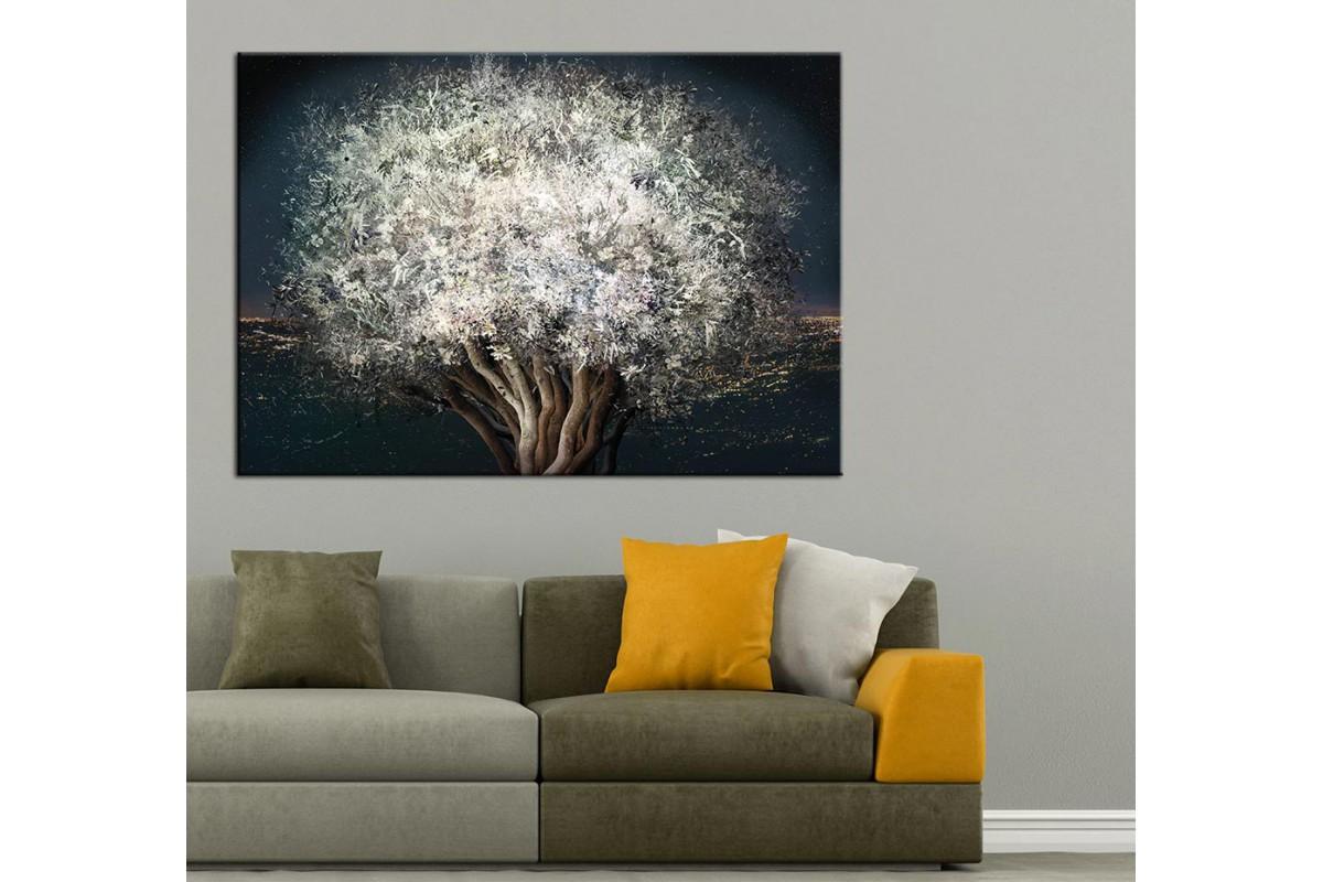 Ağaç Yağlı Boya Görünüm Kanvas Tablo dkm-k61-3