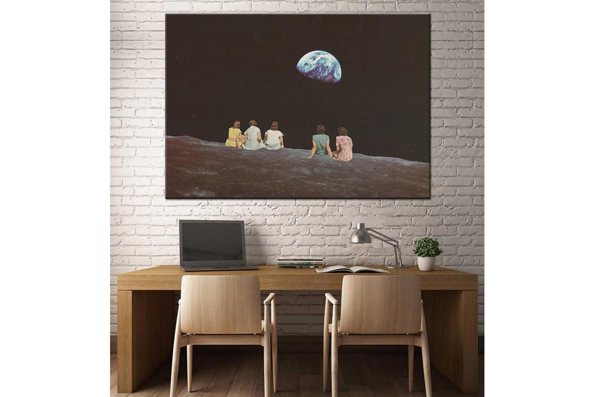 Gezegeni Seyrederken Kanvas Tablo dkm-k61-40