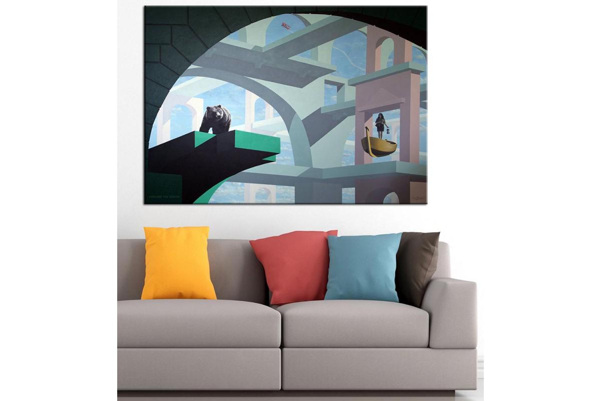 Sanatsal Yağlı Boya Görünüm Kanvas Tablo dkm-k61-7