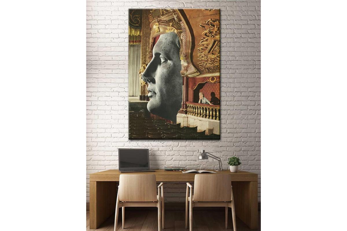 Sanatsal Yağlı Boya Görünüm Kanvas Tablo dkm-k61-80