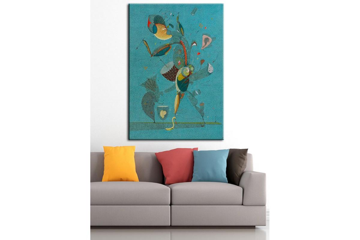 Sanatsal Yağlı Boya Görünüm Kanvas Tablo dkm-k61-82
