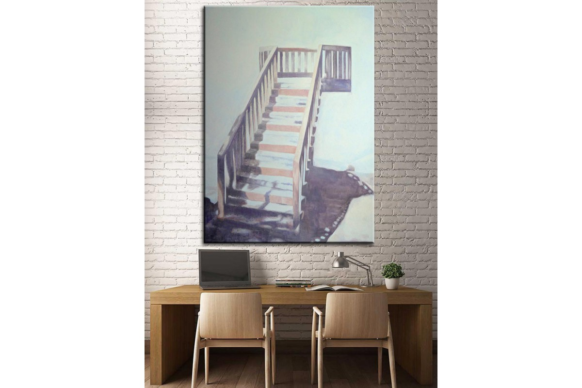 Merdivenler Yağlı Boya Görünüm Kanvas Tablo dkm-k61-91