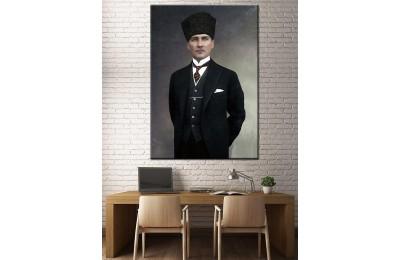 Atatürk Renklendirme Özel Seri Kanvas Tablo dkm-k64-1