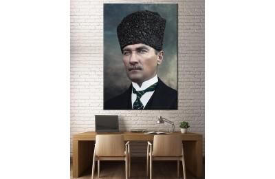 Atatürk Kalpak Renklendirme Özel Seri Kanvas Tablo dkm-k64-10