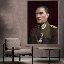 Mareşal Atatürk Renklendirme Özel Seri Kanvas Tablo dkm-k64-3