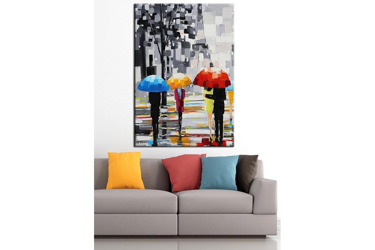 Paris Eyfel Kulesi Yağlı Boya Görünüm Kanvas Tablo dkm-k67-10