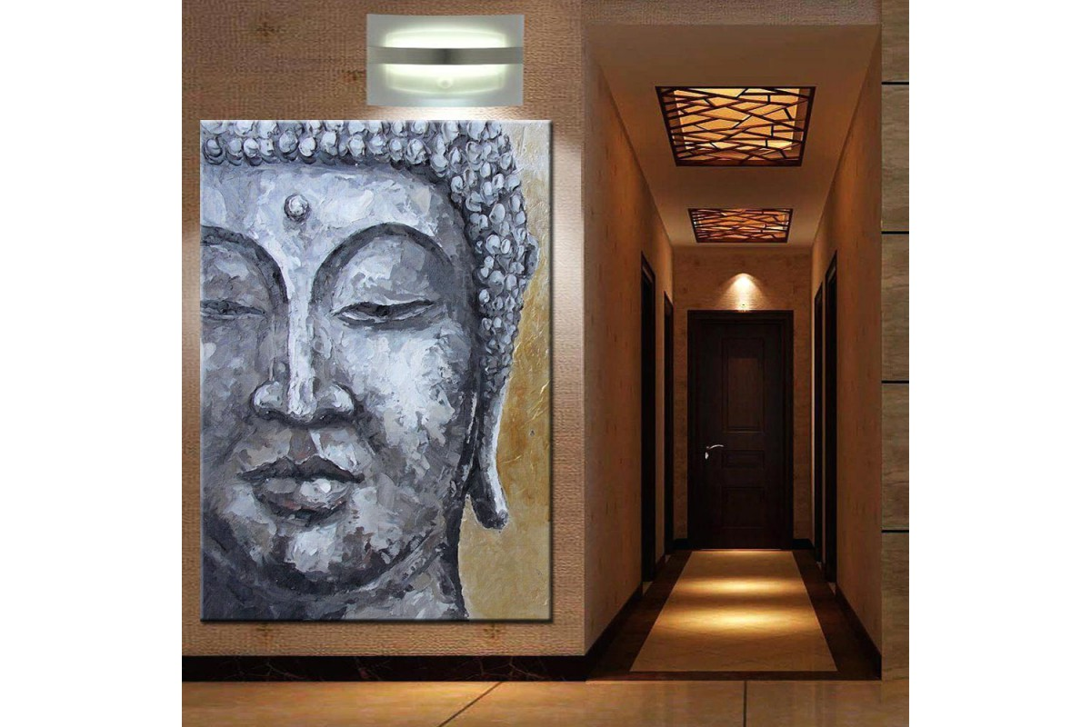 Budha Yağlı Boya Görünümlü Kanvas Tablo k68-10