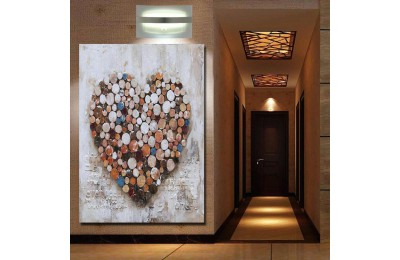 Aşk ve Kalp Yağlı Boya Görünüm Kanvas Tablo k68-23