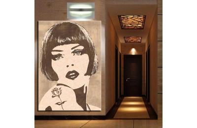 Kadın Yüzü Modern Dekorasyon Kanvas Tablo k68-27